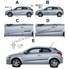 Bočné ochranné lišty dverí - Dacia Sandero Stepway, 2013 +