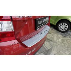 Škoda Rapid SpaceBack - ochranný panel zadného nárazníka Alu Look - KI-R
