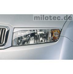 Kryty svetlometov Milotec (mračítka) ABS čierne, Škoda Fabia I
