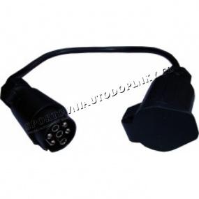 Redukce s kabelem-7/13 pin 12/24Vpvc (auto+přívěs)