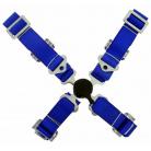 4-bodové bezpečnostní pásy CAM LOCK 50 mm modré