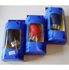 Hlavica radiacej páky ergo plus kožená, rôzne farby s krúžkom