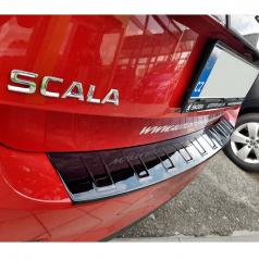 Ochranný panel zadného nárazníka - design VV - glossy black - Škoda Scala