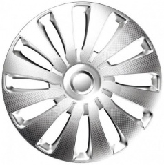 "Kryty kolies SEPPANG carbon silver 14-16"" (sada 4 ks)"