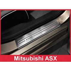 Nerez ochranné lišty prahu dveří 4ks Mitsubishi ASX 2010-16