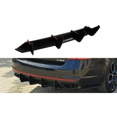 Difúzor zadného nárazníka pre Škoda Octavia RS Mk3, Maxton Design (plast ABS bez povrchovej úpravy)