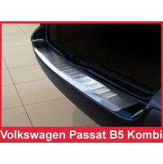Nerez kryt- ochrana prahu zadného nárazníka Volkswagen Passat B5 kombi 2000-05