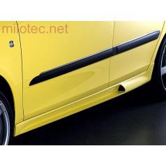 Rozšírenie prahov, ABS-čierny, Škoda Fabia II