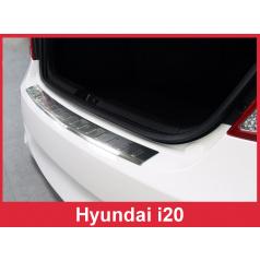 Nerez kryt- ochrana prahu zadního nárazníku Hyundai i20 2009-14