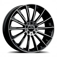 Alu koleso GMP STELLAR black/leštený top 10,0x21 5x112 ET50