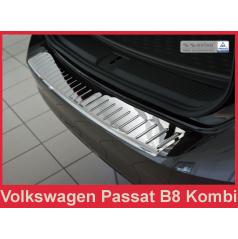 Nerez kryt chróm ochrana prahu zadného nárazníka Volkswagen Passat B8 kombi 2014+