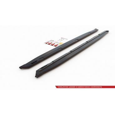 Difúzory pod bočné prahy pre Škoda KodiaQ Sportline, Maxton Design (čierny lesklý plast ABS)