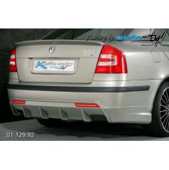 Škoda Octavia II Difúzor zadného nárazníka s bočnými spoilery pre lak