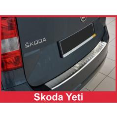 Nerez kryt- ochrana prahu zadného nárazníku Škoda Yeti Outdoor FL 2013-16