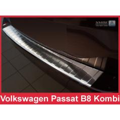 Nerez kryt ochrana prahu zadného nárazníka Volkswagen Passat B8 kombi 2014-16