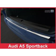 Nerez kryt- ochrana prahu zadného nárazníka Audi A5 Sportback 2016+