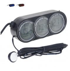 Teploměr do auta vnitřní/venkovní teplota, hodiny, datum,