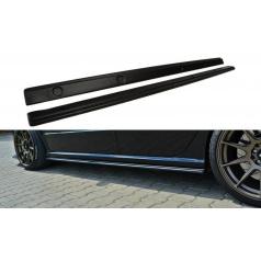 Difúzory pod bočné prahy pre Škoda Fabia RS Mk1, Maxton Design (čierny lesklý plast ABS)