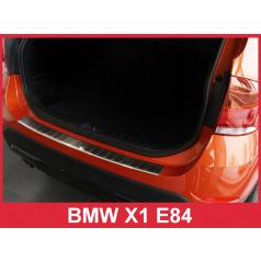 Nerez kryt- ochrana prahu zadného nárazníka BMW X1 E84 2009-12