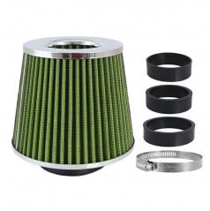 Športový vzduchový filter kužeľový zelený - chróm