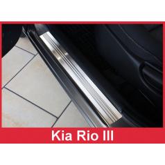Nerez ochranné lišty prahu dveří 2ks Kia Rio 3 2011-15