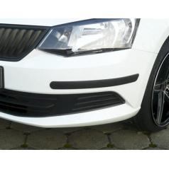 Ochranné lišty predného a zadného nárazníka Škoda Fabia III Lim. + Combi