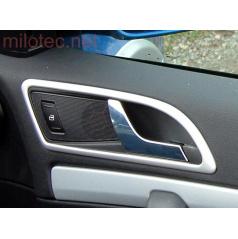 Dekory interiéra, sada 3 (rámčeky klik 4 ks) ABS-strieborné matné, Octavia II, Octavia II Facelift, Yeti