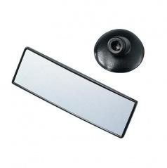 Konvexné spätné zrkadlo obdĺžnikové s prísavkou - 140x45 mm