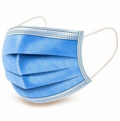 Respirační rouška s 3-vrstvým ochranným filtrem jednorázová