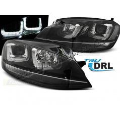 VW Golf 7 11.2012+ predné číre svetlá U-Type Black With Black Line (LPVWM3)