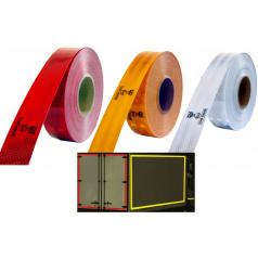 Samolepiaca páska reflexná 1m x 5cm žltá, biela, červená
