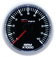 Prídavný budík Depo Racing otáčkomer 52 mm 0-10 000 RPM