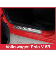 Nerez ochranné lišty prahu dverí 4ks Volkswagen Polo 5 6R 2009-16