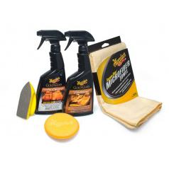Meguiar 's Heavy Duty Leather Care Kit kompletná sada na čistenie a ochranu kožených povrchov
