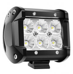 6 ľad pracovné svetlo biele 6 LED 95x77 mm 18W FLAT 9-36V 6000K