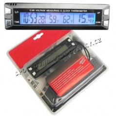 Teplomer IN / OUT - osvetlený s indikátorom napätia 12V (modré alebo oranžové podsvietenie)