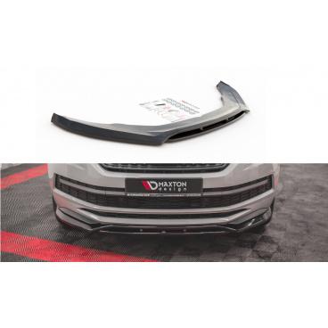 Spoiler pod predný nárazník pre Škoda KodiaQ Sportline, Maxton Design (Carbon-Look)
