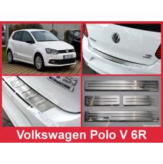 Nerez kryt zostava ochrana prahu zadného nárazníka + ochranné lišty prahu dverí VW Polo V 6R 2014-16