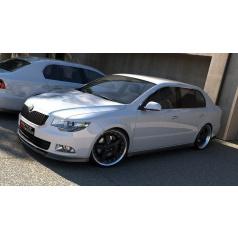 Spoiler pod predný nárazník pre Škoda Superb Mk2, Maxton Design (plast ABS bez povrchovej úpravy)