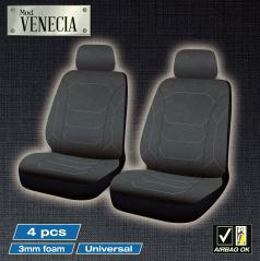 Luxusné predné autopoťahy VENECIA čierne 4 ks