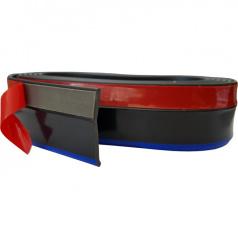 Univerzálny spodný pružný lip s podlepením čierny s modrou linkou