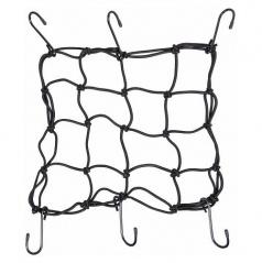 Pružná upevňovacia sieť s háčikmi 30x30cm
