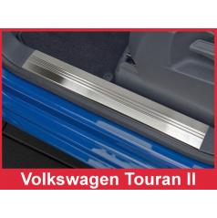 Nerez vnitřní ochranné lišty prahu dveří 4ks Volkswagen Touran 2 2006-16