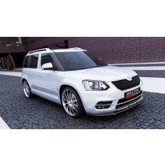 Spoiler pod predný nárazník pre Škoda Yeti, Maxton Design (Carbon-Look)