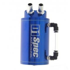 Alu nádoba na prebytočný olej D1 SPEC modrá vstup - výstup 9 mm