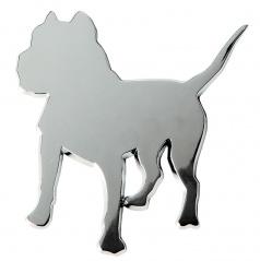 Plastový chróm znak Dog 85x85 mm