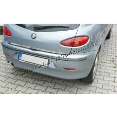 Alfa Romeo 147 3D / 5D - nerez chróm lišta kufru spodná - OMSA LINE