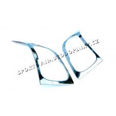 VW Crafter 06-10 - nerez chróm ochranné kryty predných svetiel - Omsa Line