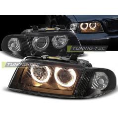 Audi A4 11.94-12.98 predné číre svetlá Angel Eyes black (LPAU11)