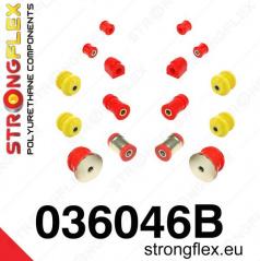 BMW rada 3 (E36) Strongflex zostava silentblokov len pre zadnú nápravu 16 ks